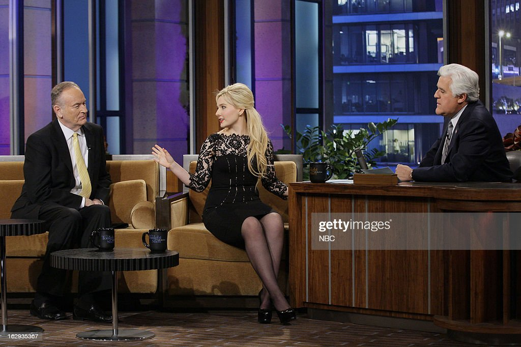 Bill O'Reilly , actress Abigail Breslin during an interview with host Jay Leno on March 1, 2013 --