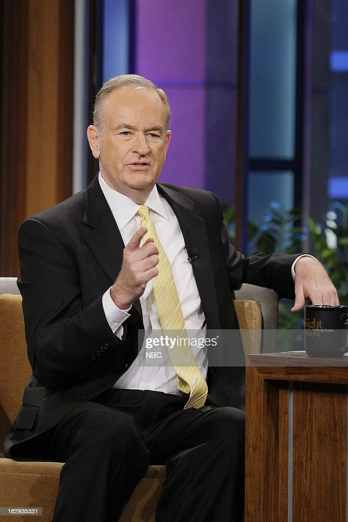 Bill O'Reilly during an interview on March 1, 2013 --
