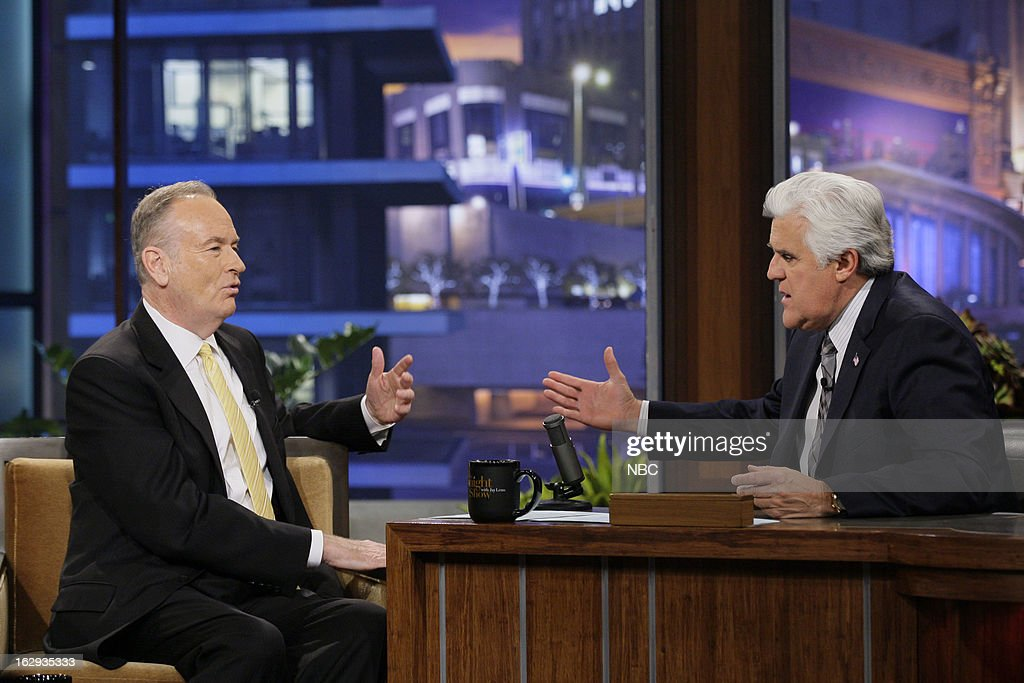 Bill O'Reilly during an interview with host Jay Leno on March 1, 2013 --