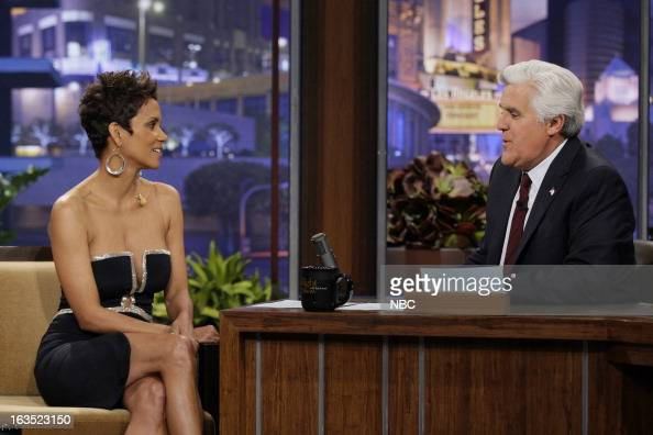 Actress Halle Berry during an interview with host Jay Leno on March 11 2013