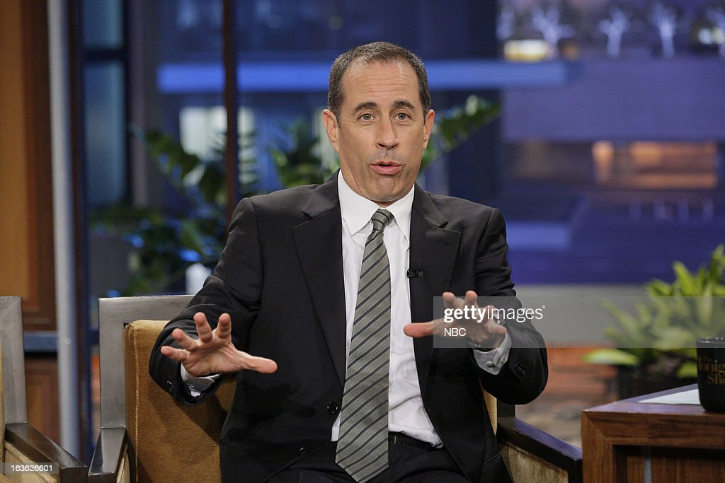 Comedian <a gi-track='captionPersonalityLinkClicked' href=/galleries/search?phrase=Jerry+Seinfeld&family=editorial&specificpeople=210541 ng-click='$event.stopPropagation()'>Jerry Seinfeld</a> during an interview on March 12, 2013 --