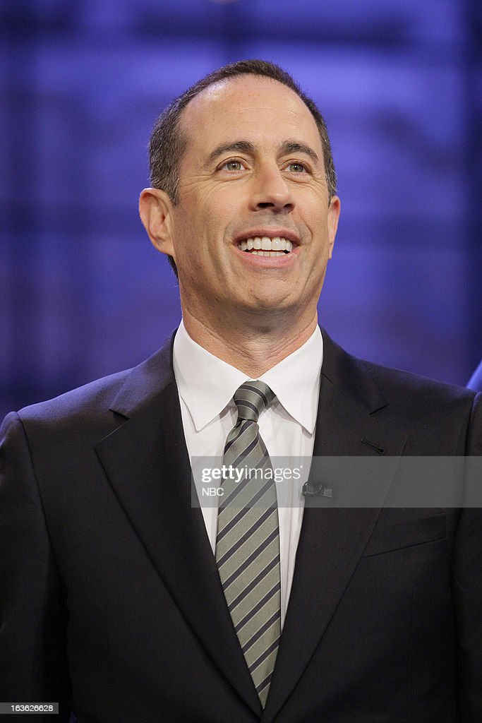 Comedian <a gi-track='captionPersonalityLinkClicked' href=/galleries/search?phrase=Jerry+Seinfeld&family=editorial&specificpeople=210541 ng-click='$event.stopPropagation()'>Jerry Seinfeld</a> on March 12, 2013 --