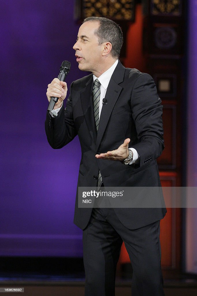 Comedian <a gi-track='captionPersonalityLinkClicked' href=/galleries/search?phrase=Jerry+Seinfeld&family=editorial&specificpeople=210541 ng-click='$event.stopPropagation()'>Jerry Seinfeld</a> performs on March 12, 2013 --