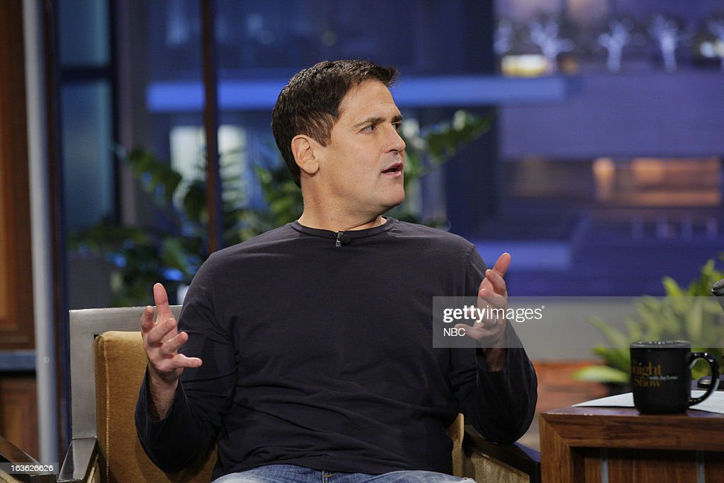 Dallas Mavericks owner Mark Cuban during an interview on March 12, 2013 --