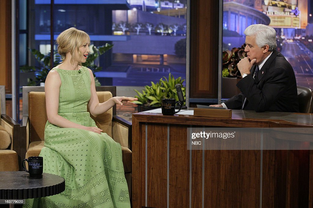 Actress Vera Farmiga during an interview with host Jay Leno on March 15, 2013 --