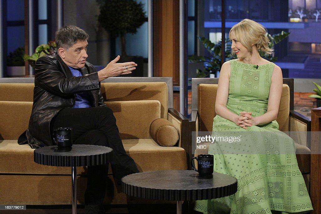 Talk show host Craig Ferguson and actress Vera Farmiga during an interview on March 15, 2013 --
