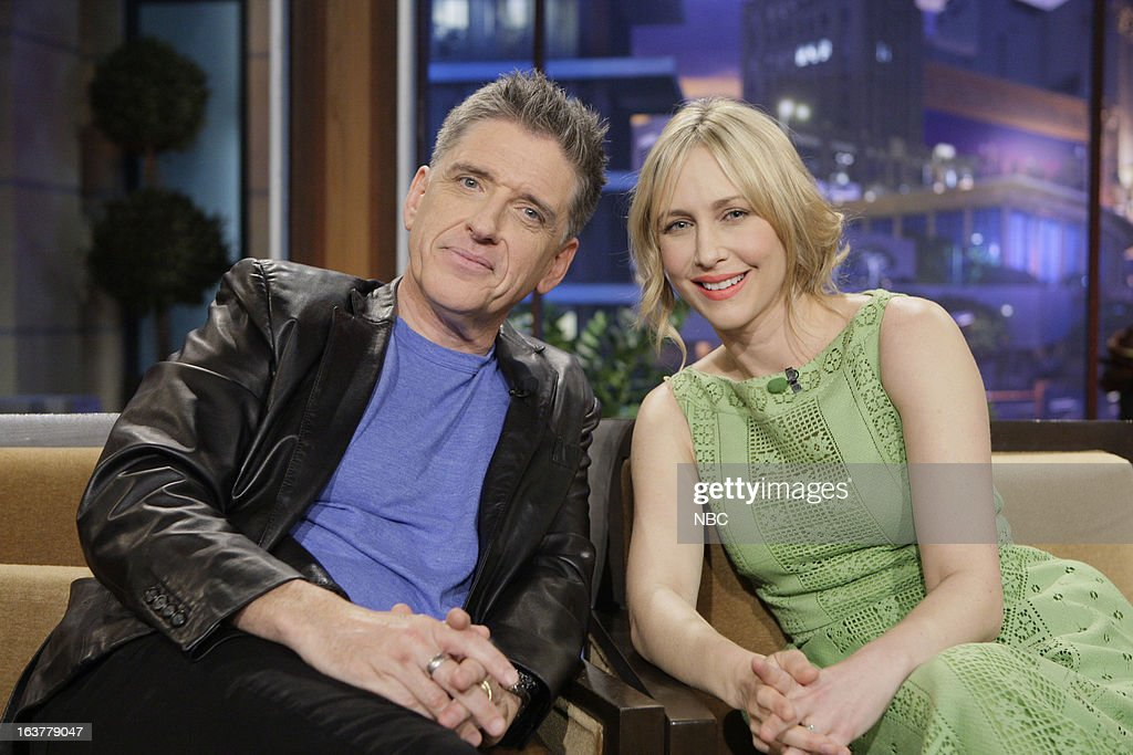 LENO -- (EXCLUSIVE COVERAGE) -- Episode 4425 -- Pictured: (l-r) Talk show host <a gi-track='captionPersonalityLinkClicked' href=/galleries/search?phrase=Craig+Ferguson+-+Talk+Show+Host&family=editorial&specificpeople=204509 ng-click='$event.stopPropagation()'>Craig Ferguson</a> and actress <a gi-track='captionPersonalityLinkClicked' href=/galleries/search?phrase=Vera+Farmiga&family=editorial&specificpeople=227012 ng-click='$event.stopPropagation()'>Vera Farmiga</a> on March 15, 2013 --