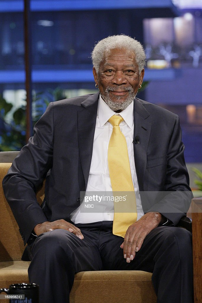 Actor Morgan Freeman during an interview on March 18, 2013 --