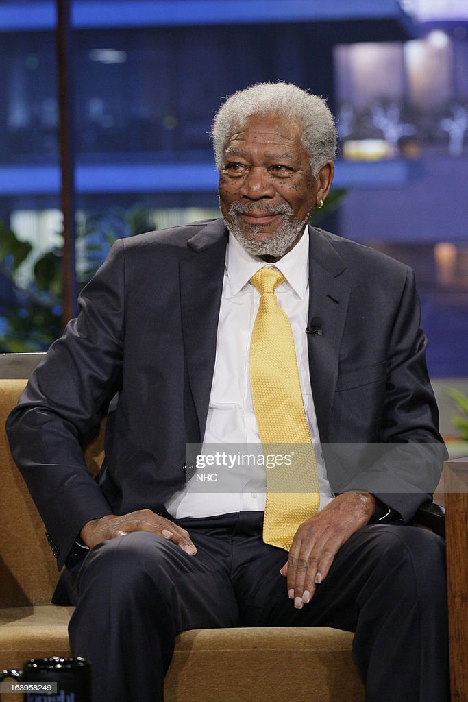 Actor <a gi-track='captionPersonalityLinkClicked' href=/galleries/search?phrase=Morgan+Freeman&family=editorial&specificpeople=169833 ng-click='$event.stopPropagation()'>Morgan Freeman</a> during an interview on March 18, 2013 --