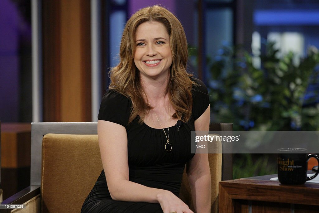 Actress <a gi-track='captionPersonalityLinkClicked' href=/galleries/search?phrase=Jenna+Fischer&family=editorial&specificpeople=274744 ng-click='$event.stopPropagation()'>Jenna Fischer</a> during an interview on March 19, 2013 --
