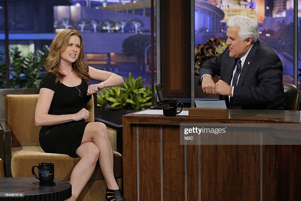 Actress Jenna Fischer during an interview with host Jay Leno on March 19, 2013 --