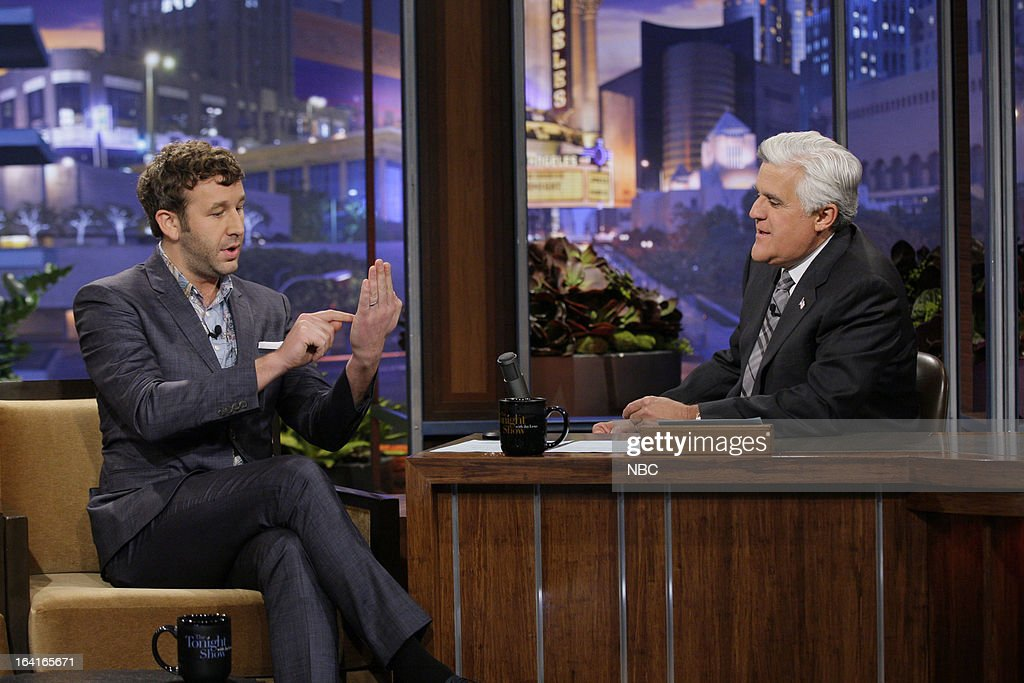 Actor Chris O'Dowd during an interview with host Jay Leno on March 20, 2013 --