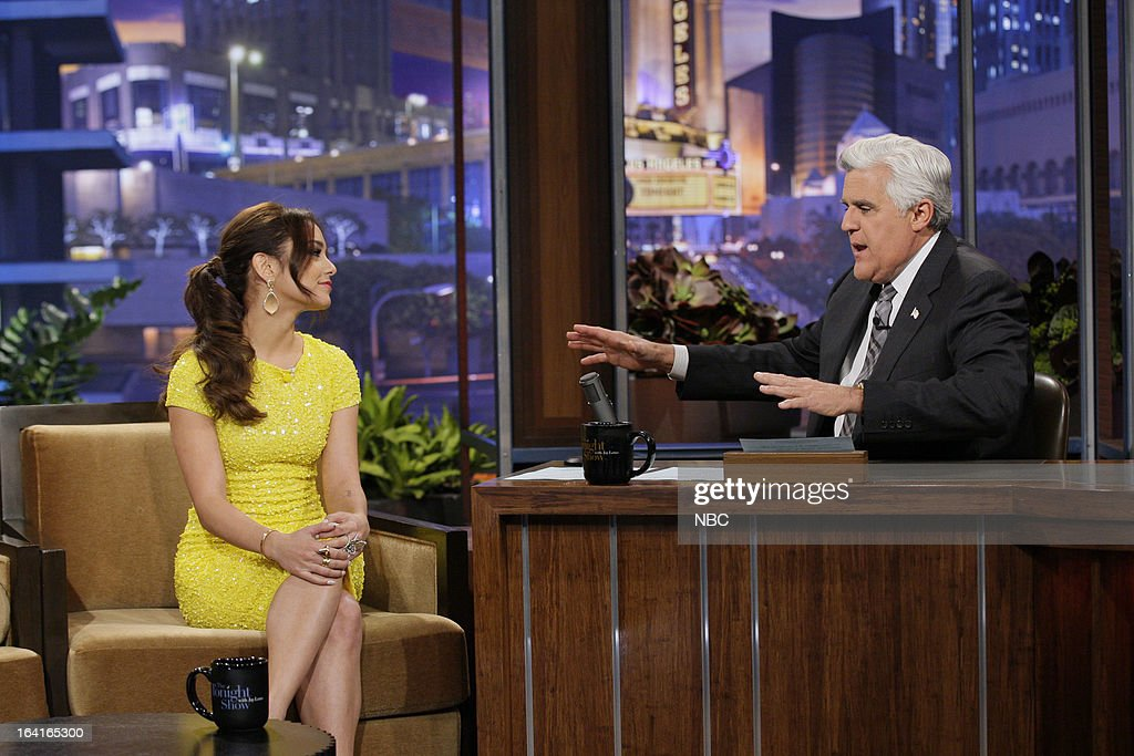 Actress Vanessa Hudgens during an interview with host Jay Leno on March 20, 2013 --