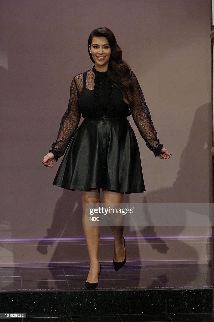 Kim Kardashian arrives on March 28, 2013 --