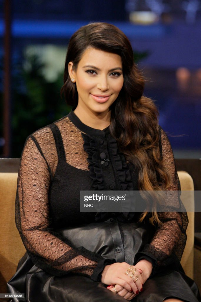 Kim Kardashian during an interview on March 28, 2013 --