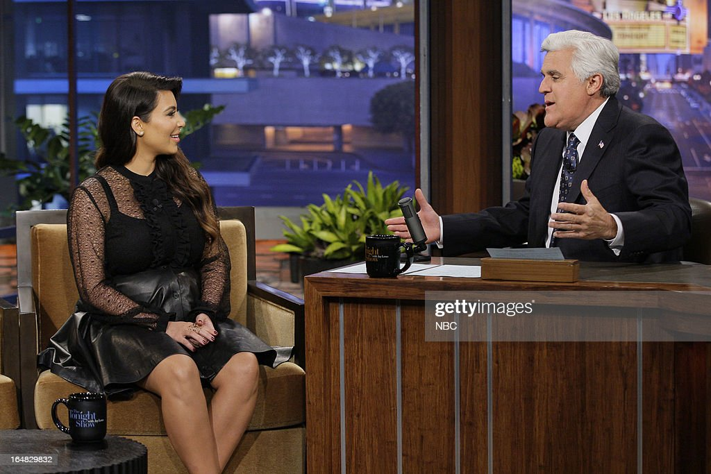 Kim Kardashian during an interview with host Jay Leno on March 28, 2013 --