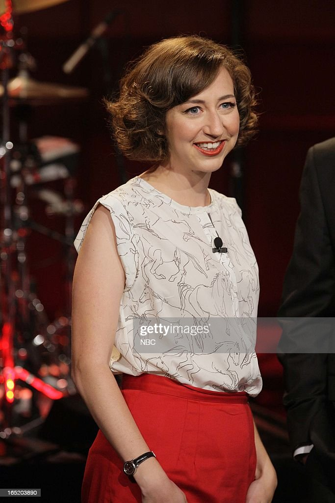 Actress <a gi-track='captionPersonalityLinkClicked' href=/galleries/search?phrase=Kristen+Schaal&family=editorial&specificpeople=2479209 ng-click='$event.stopPropagation()'>Kristen Schaal</a> on April 1, 2013 --