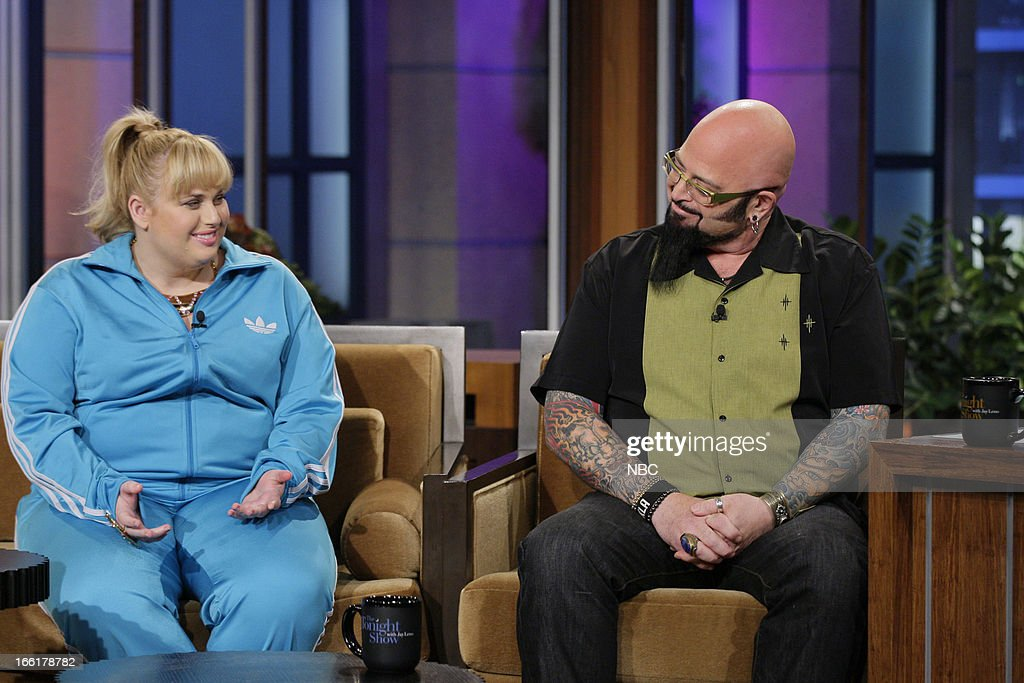 Actress Rebel Wilson, cat behavior expert Jackson Galaxy during an interview on April 9, 2013 --