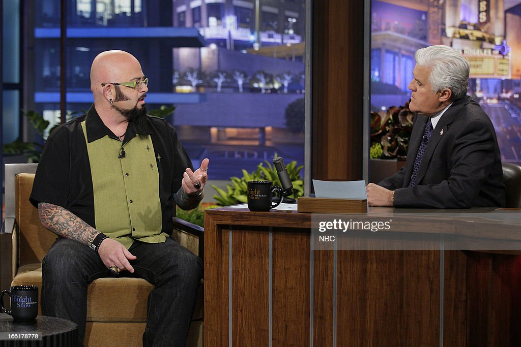 Cat behavior expert Jackson Galaxy during an interview with host Jay Leno on April 9, 2013 --