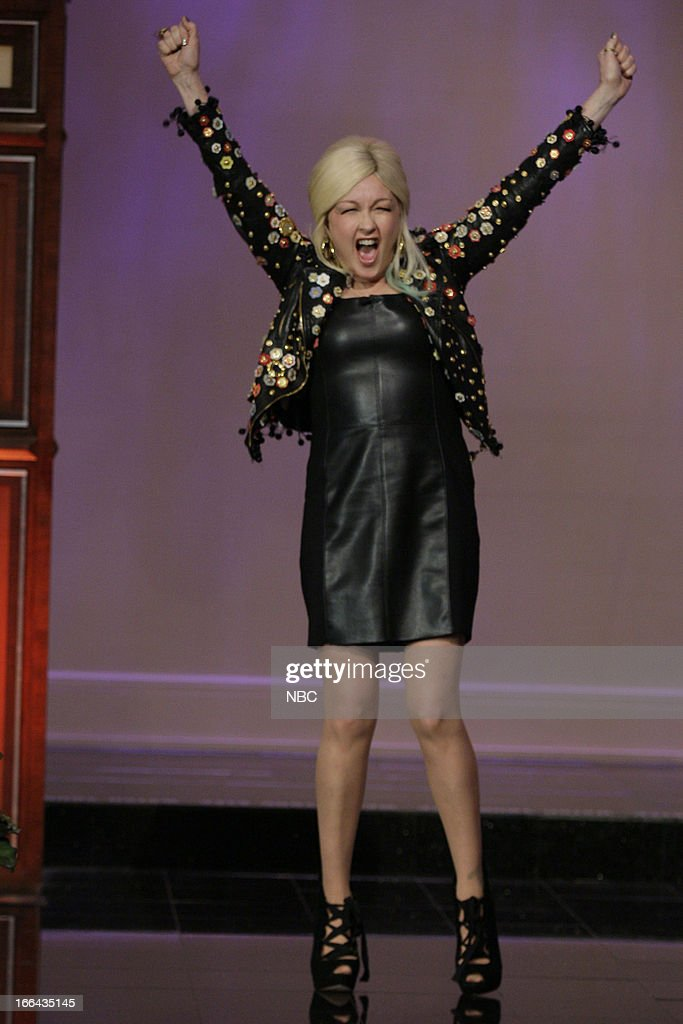 <a gi-track='captionPersonalityLinkClicked' href=/galleries/search?phrase=Cyndi+Lauper&family=editorial&specificpeople=171290 ng-click='$event.stopPropagation()'>Cyndi Lauper</a> arrives on April 12, 2013 --