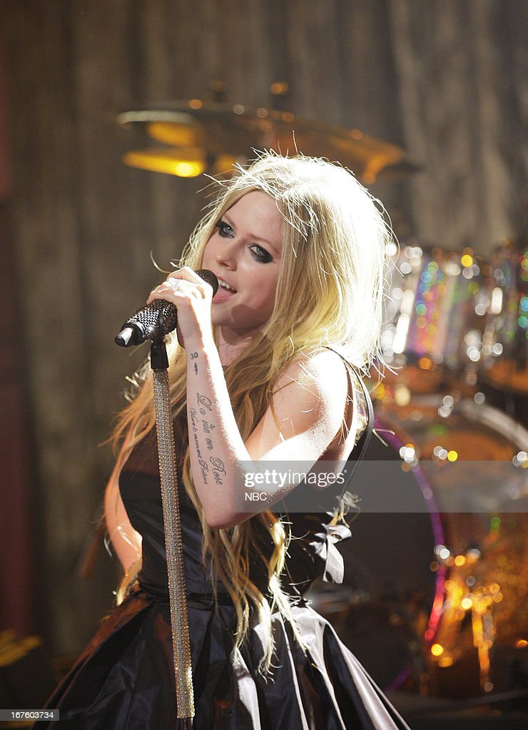 Musical guest Avril Levigne performs on April 26, 2013 --
