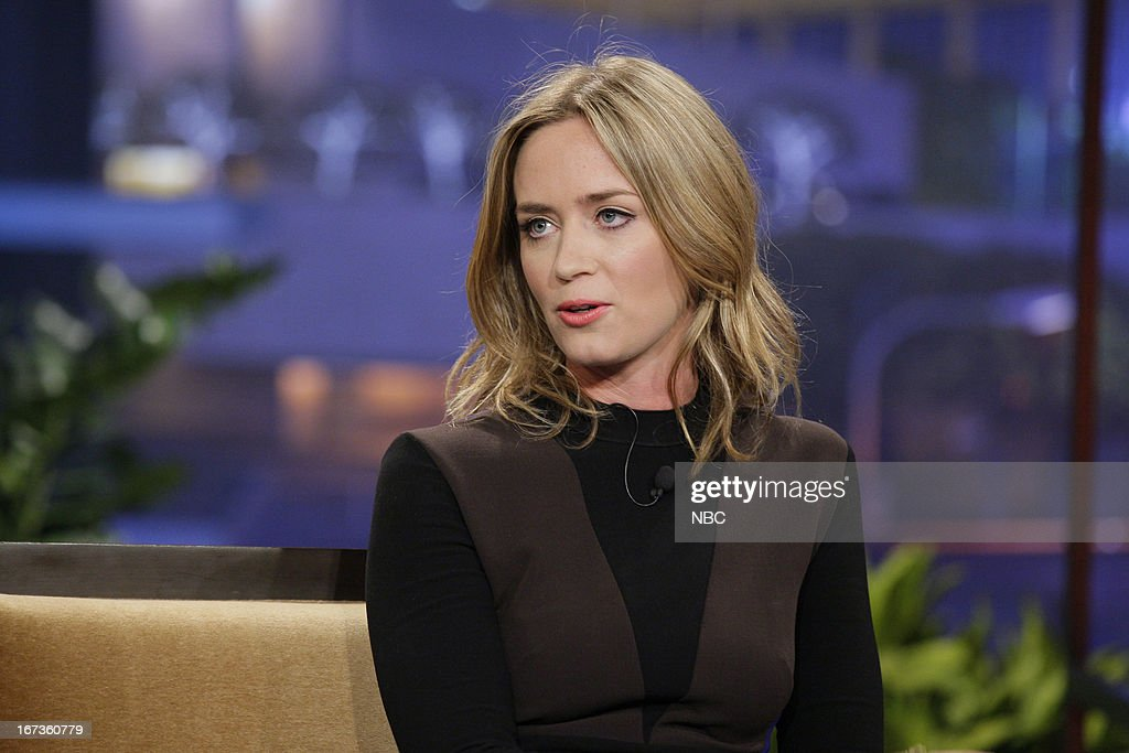 Actress Emily Blunt during an interview on April 24, 2013 --