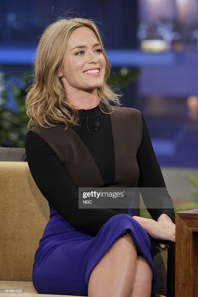 Actress <a gi-track='captionPersonalityLinkClicked' href=/galleries/search?phrase=Emily+Blunt&family=editorial&specificpeople=213480 ng-click='$event.stopPropagation()'>Emily Blunt</a> during an interview on April 24, 2013 --