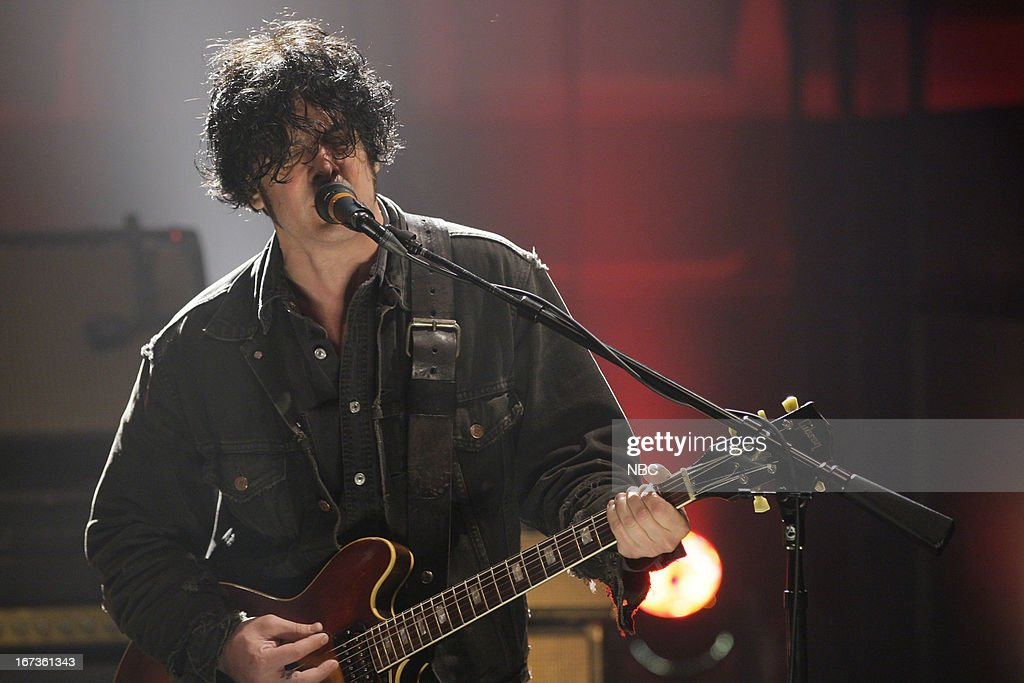 <a gi-track='captionPersonalityLinkClicked' href=/galleries/search?phrase=Peter+Hayes&family=editorial&specificpeople=1742456 ng-click='$event.stopPropagation()'>Peter Hayes</a> of musical guest Black Rebel Motorcycle Club performs on April 24, 2013 --