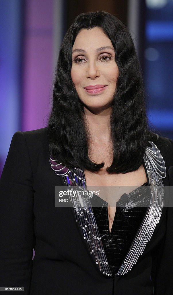Musician Cher onstage April 30, 2013 --