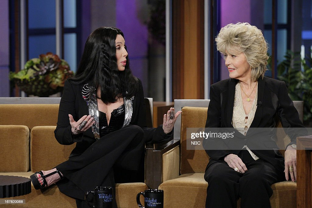 Musicians <a gi-track='captionPersonalityLinkClicked' href=/galleries/search?phrase=Cher+-+K%C3%BCnstlerin&family=editorial&specificpeople=203036 ng-click='$event.stopPropagation()'>Cher</a>, <a gi-track='captionPersonalityLinkClicked' href=/galleries/search?phrase=Georgia+Holt&family=editorial&specificpeople=1064778 ng-click='$event.stopPropagation()'>Georgia Holt</a> during an interview on April 30, 2013 --