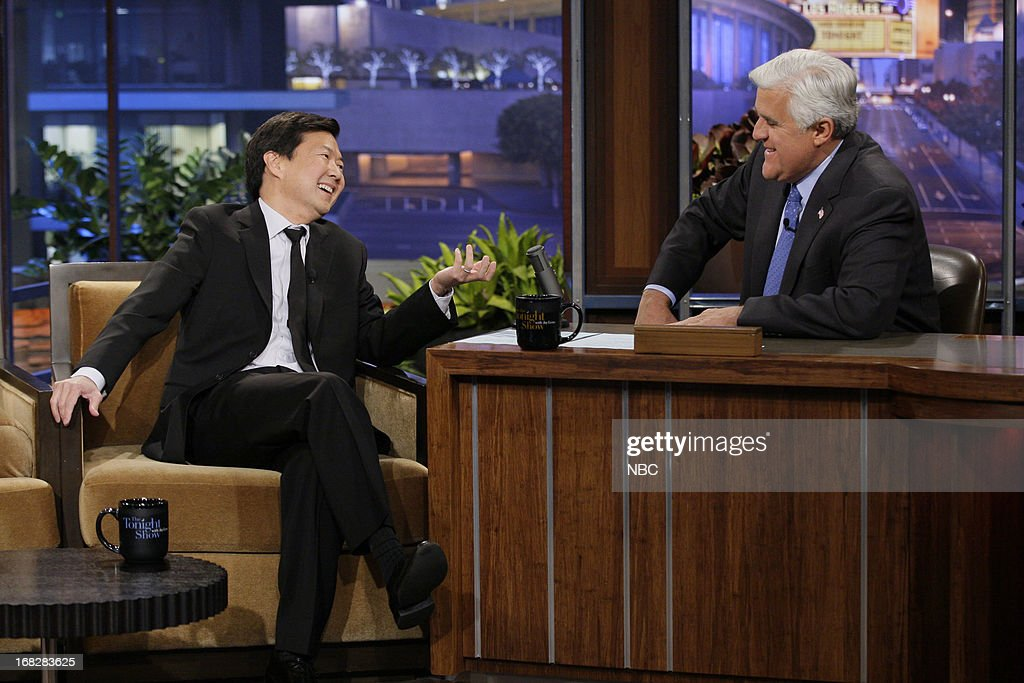 Actor Ken Jeong during an interview with host Jay Leno on May 7, 2013 --