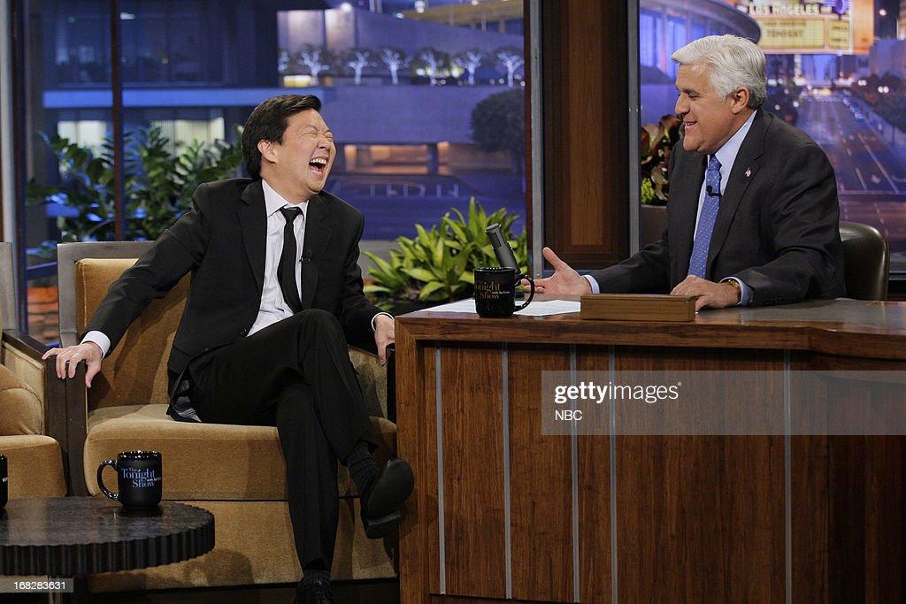 Actor <a gi-track='captionPersonalityLinkClicked' href=/galleries/search?phrase=Ken+Jeong&family=editorial&specificpeople=4195975 ng-click='$event.stopPropagation()'>Ken Jeong</a> during an interview with host Jay Leno on May 7, 2013 --