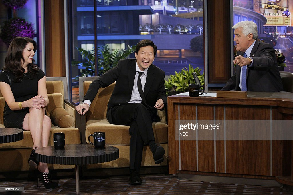 Actress Lauren Graham, actor Ken Jeong during an interview with host Jay Leno on May 7, 2013 --