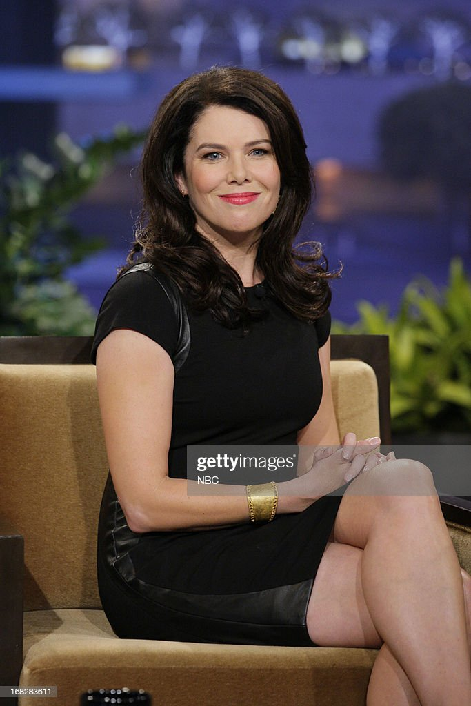 Actress <a gi-track='captionPersonalityLinkClicked' href=/galleries/search?phrase=Lauren+Graham&family=editorial&specificpeople=206505 ng-click='$event.stopPropagation()'>Lauren Graham</a> during an interview on May 7, 2013 --