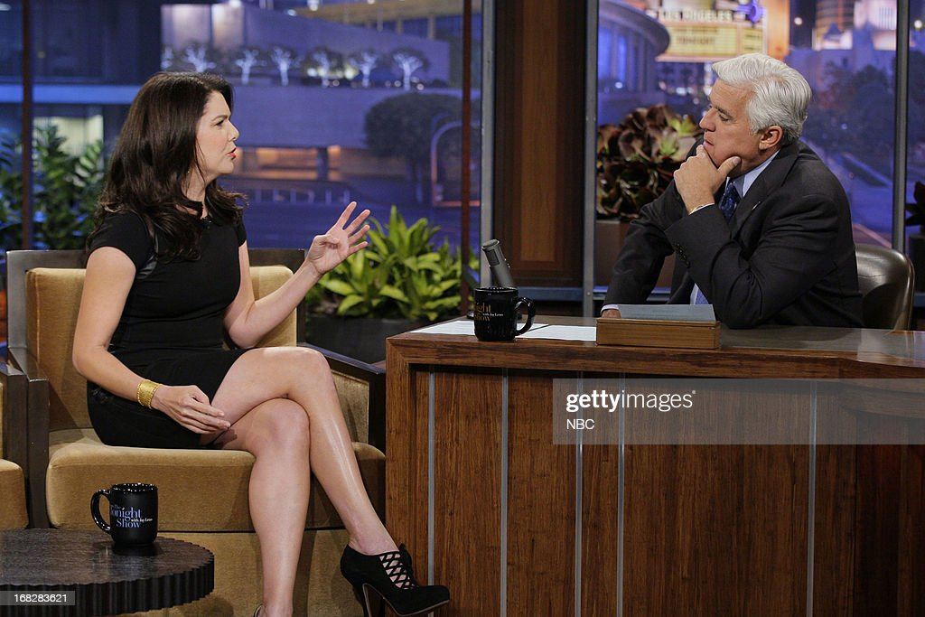 Actress Lauren Graham during an interview with host Jay Leno on May 7, 2013 --