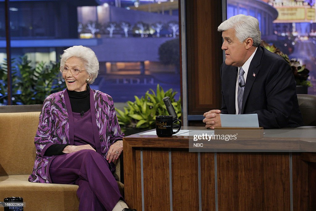 100-Year-Old Actress Connie Sawyer during an interview with host Jay Leno on May 8, 2013 --