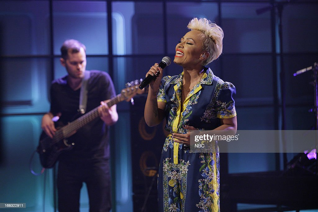 Musical guests Emeli Sande performs on May 8, 2013 --