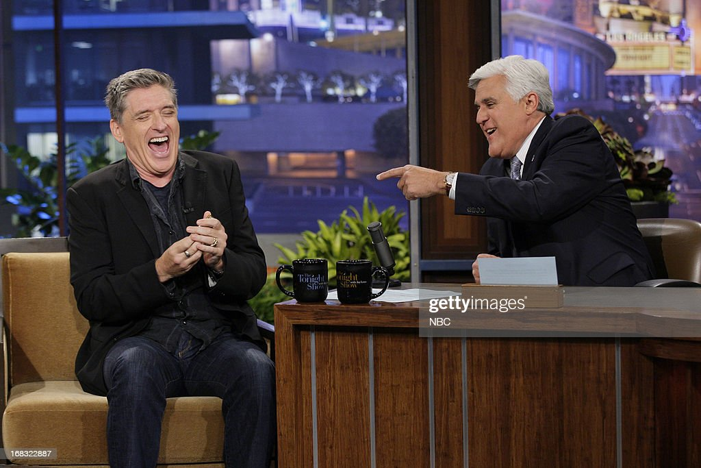 Talk Show host <a gi-track='captionPersonalityLinkClicked' href=/galleries/search?phrase=Craig+Ferguson+-+Talk+Show+Host&family=editorial&specificpeople=204509 ng-click='$event.stopPropagation()'>Craig Ferguson</a> during an interview with host Jay Leno on May 8, 2013 --