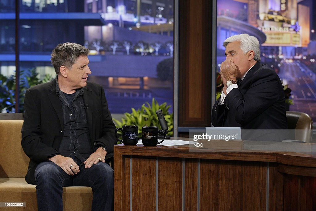 Talk Show host Craig Ferguson during an interview with host Jay Leno on May 8, 2013 --