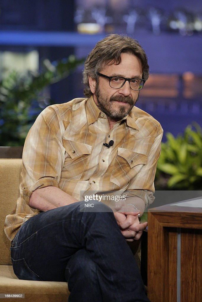 Comedian <a gi-track='captionPersonalityLinkClicked' href=/galleries/search?phrase=Marc+Maron&family=editorial&specificpeople=236022 ng-click='$event.stopPropagation()'>Marc Maron</a> during an interview on May 9, 2013 --
