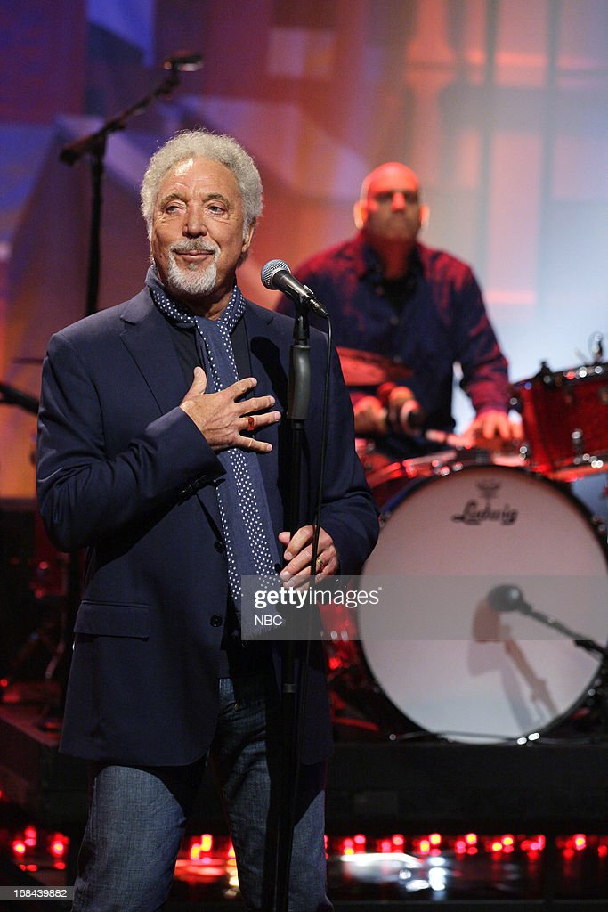 Musical guest Tom Jones performs on May 9, 2013 --
