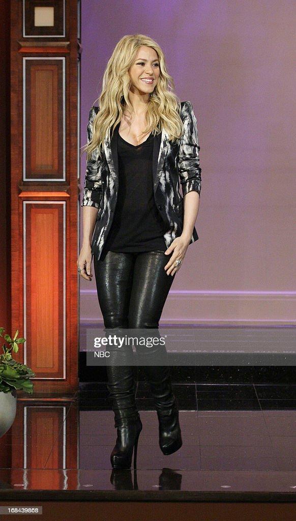 Singer Shakira arrives on May 9, 2013 --