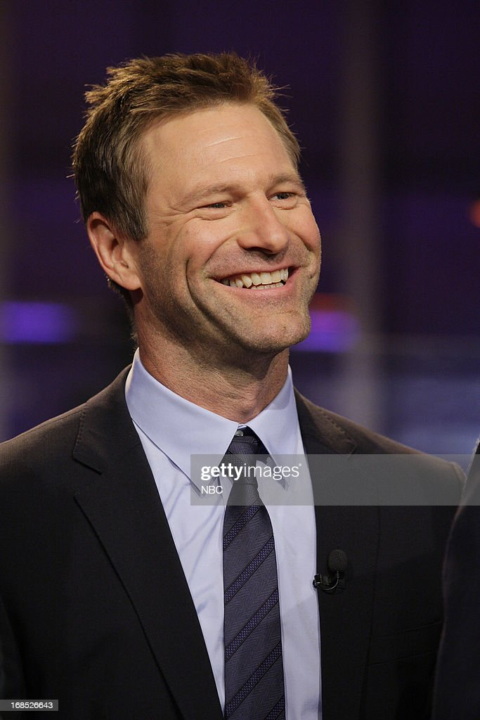 Actor <a gi-track='captionPersonalityLinkClicked' href=/galleries/search?phrase=Aaron+Eckhart&family=editorial&specificpeople=220602 ng-click='$event.stopPropagation()'>Aaron Eckhart</a> onstage May 10, 2013 --
