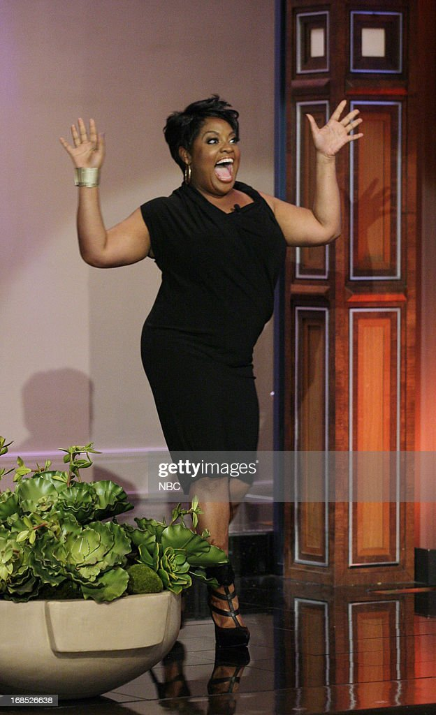 Comedian <a gi-track='captionPersonalityLinkClicked' href=/galleries/search?phrase=Sherri+Shepherd&family=editorial&specificpeople=693379 ng-click='$event.stopPropagation()'>Sherri Shepherd</a> arrives on May 10, 2013 --