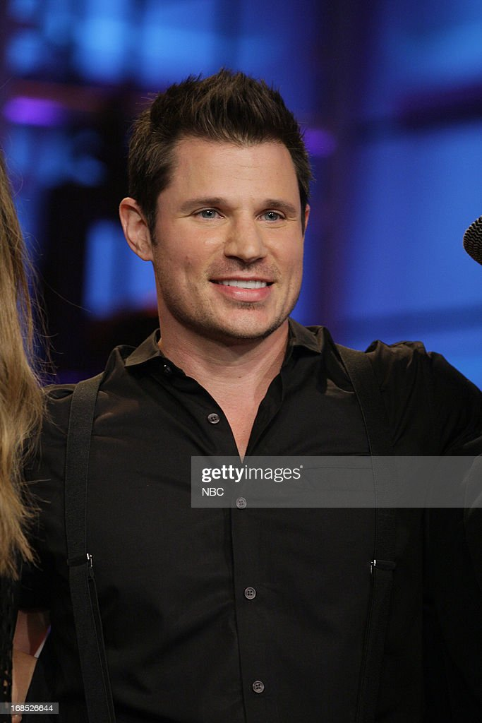 Musical guest <a gi-track='captionPersonalityLinkClicked' href=/galleries/search?phrase=Nick+Lachey&family=editorial&specificpeople=201832 ng-click='$event.stopPropagation()'>Nick Lachey</a> of 98 Degrees perform on May 10, 2013 --