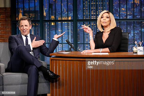 Host Seth Meyers gets interviewed by Wendy Williams on November 9 2016
