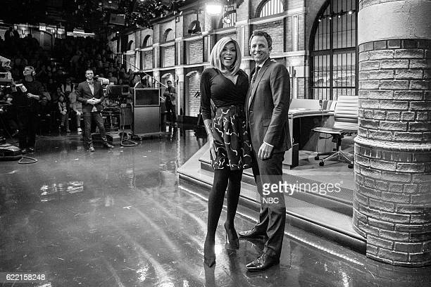 MEYERS Episode 446 Pictured Wendy Williams and host Seth Meyers on November 9 2016
