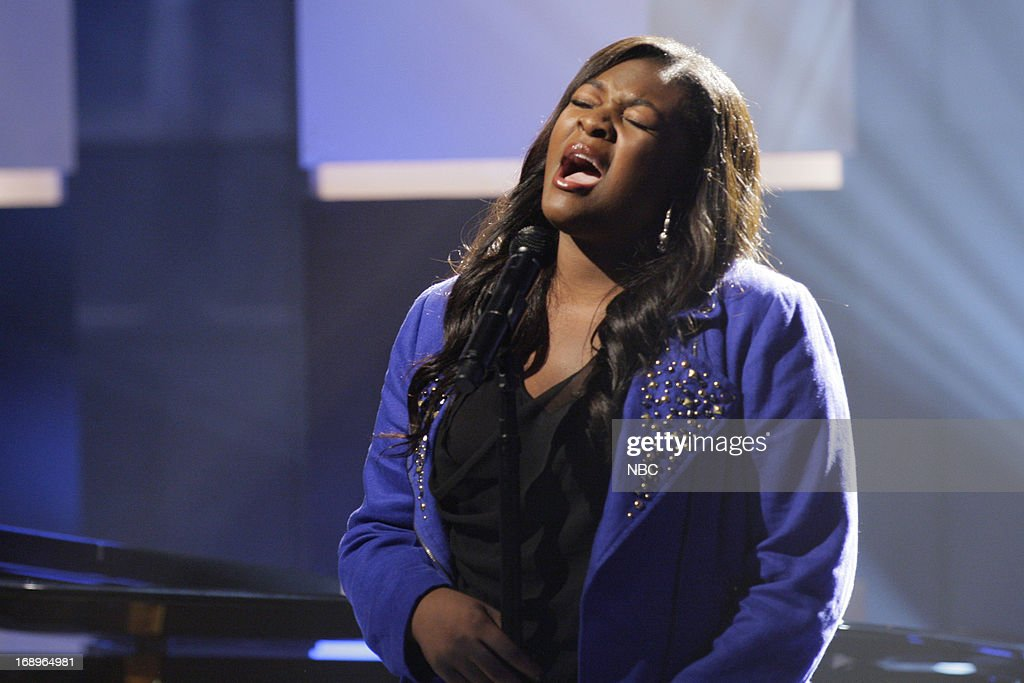 American Idol winner Candice Glover performs on May 17, 2013 --