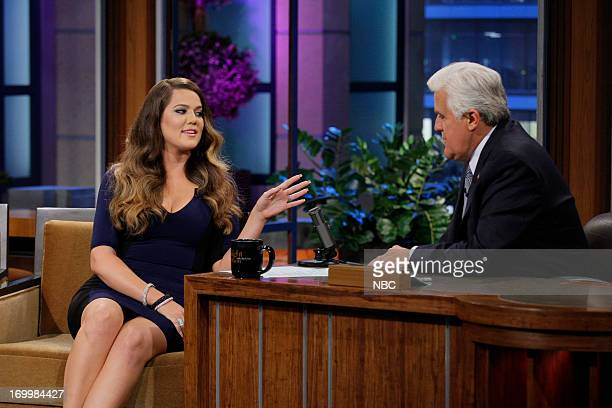 Khloe Kardashian Odom during an interview with host Jay Leno on June 5 2013