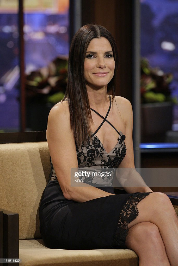 Actress <a gi-track='captionPersonalityLinkClicked' href=/galleries/search?phrase=Sandra+Bullock&family=editorial&specificpeople=202248 ng-click='$event.stopPropagation()'>Sandra Bullock</a> during an interview on June 25, 2013 --